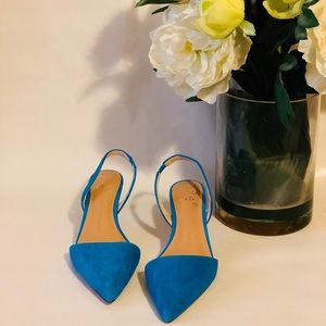 Banana Republic Slingback Low Suede Pumps - NWT